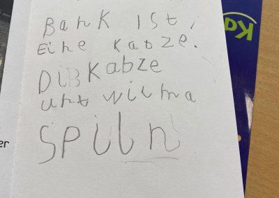 Text eines Kindes